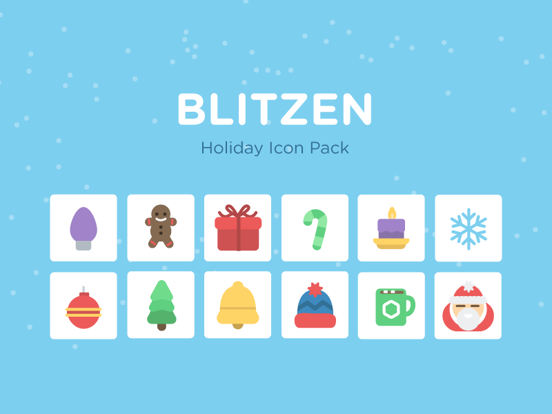 Blitzen - Holiday Icon Pack holiday icons treehouse download cheer snow free education coding santa prize candy
