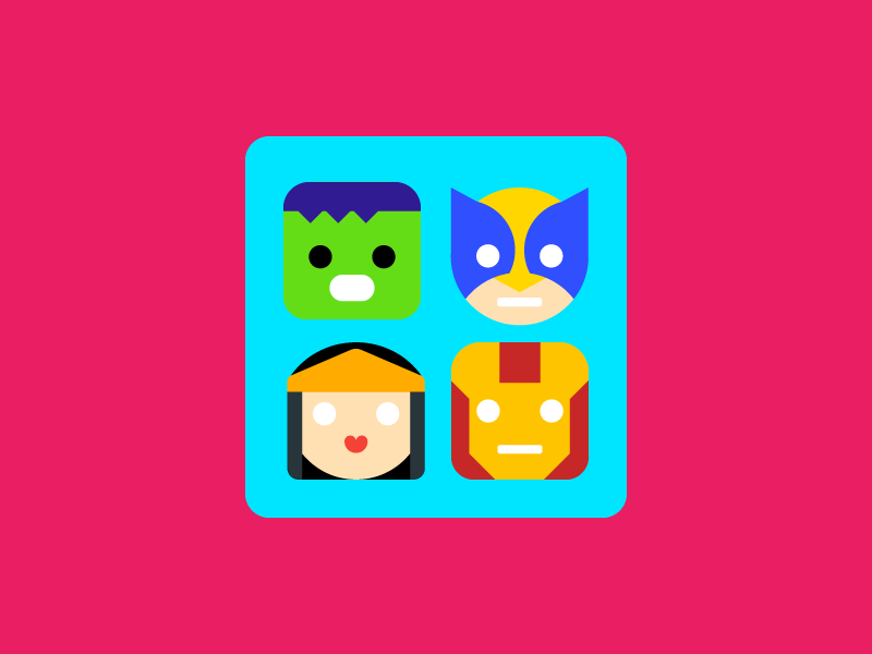 Patterns for kids app icon