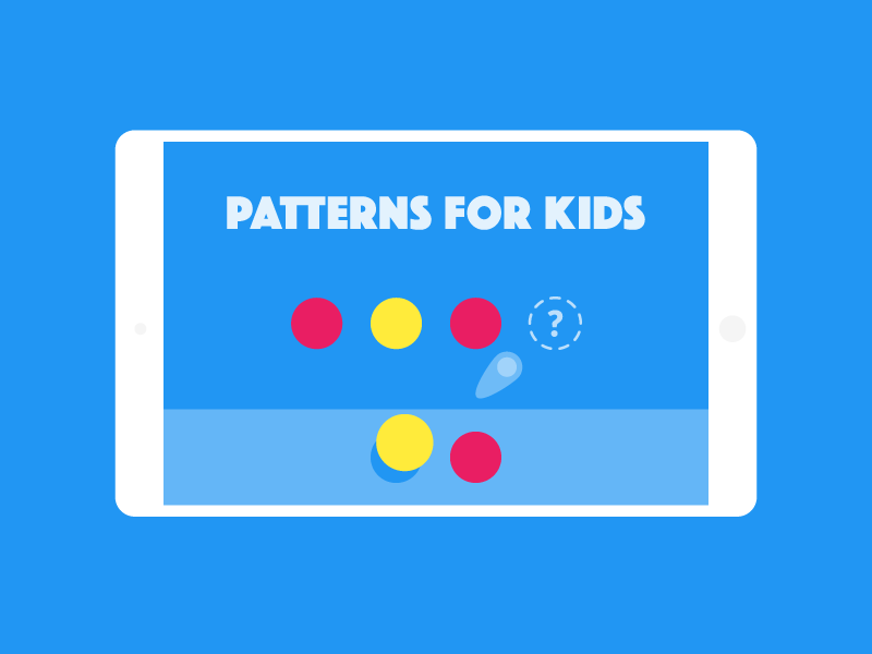 Patterns for kids app start screen