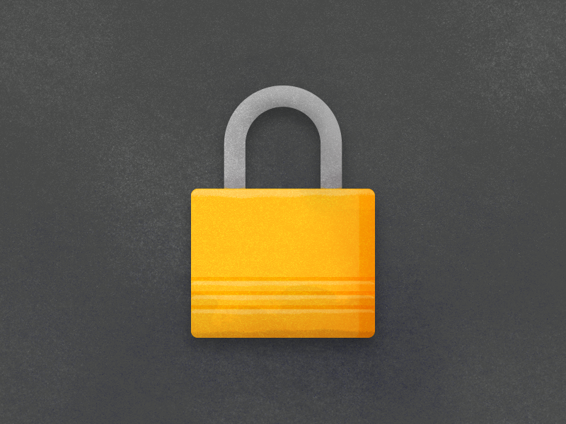 Locking down textures filthy padlock black and yellow illustration texture lock icon