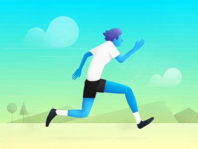 Run Like the Dickens wind mountain cloud hand face hair desert texture landscape person runner run