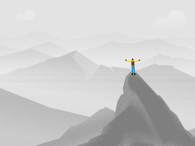 Embrace Your Achievments cliff rock sky minimal clouds white black person mountains textures vector allvector