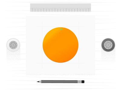 Salt & Pepper – The Art of Illustrating Texture pencil orange learn brushes grain textures vector tutorial illustration article design google