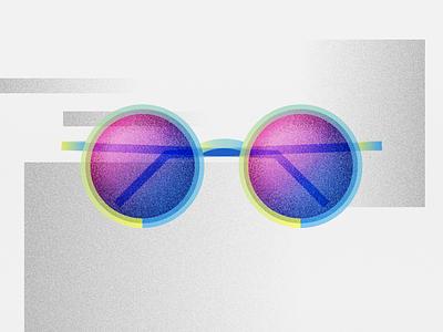 Slaybans gradient yellow blue pink vector texture slay slaybans sunglasses