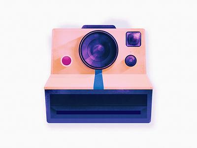 Smile :) camera polaroid grid data photoshop illustrator template less simple shapes minimal poster