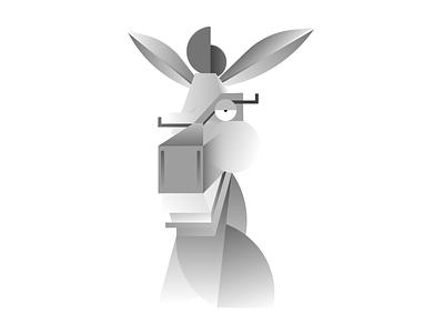 Doun-kah kids movie animal greyscale character avatar illustration picasso shrek donkey