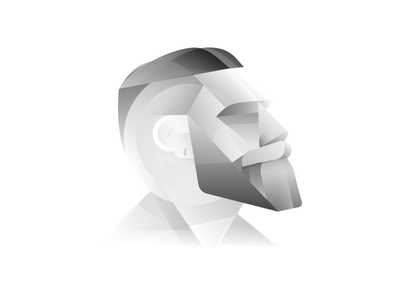 Profile grey greyscale gradients minimal abstract profile avatar