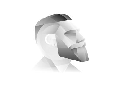 Profile grey greyscale gradients minimal abstract profile avatar