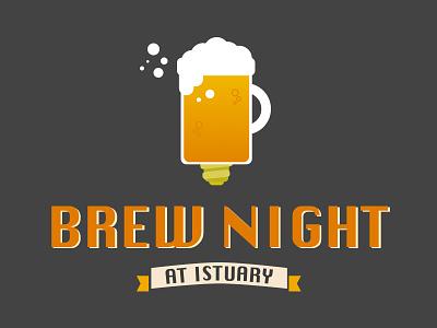 Brew Night brew night sketch illustration logo beer