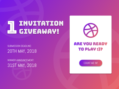 1x Dribbble Invitation Giveaway! ui gradation dribbble invite giveaway invitation invite illustration