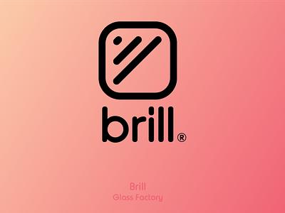 Brill - Glass Factory basic simple factory logo brill glass logo factory glass vector flat design branding logo icon bennouna ayoub