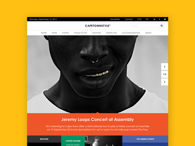 Cape Town Style Magazine breakpoints responsive design web