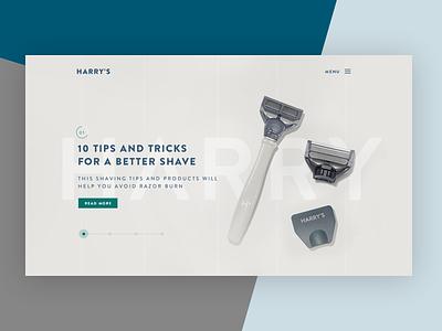 Blog's Slider design web layout page landing blog slider