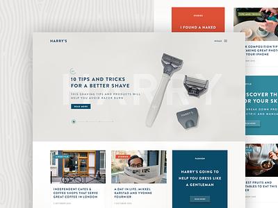 Harry's Magazine ux ui design web layout