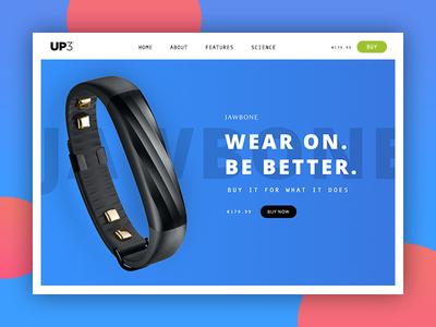Jawbone up3 - website design web website ux ui