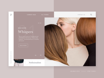 Homepage for a magazine color web ux ui landing page home grid design