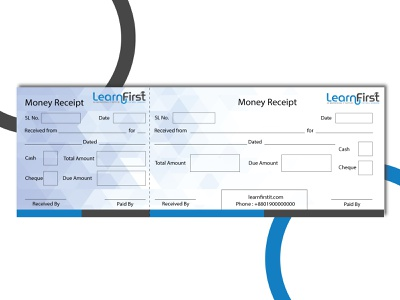 Money Receipt Design hi-quality cheque cash memo abstract art print design stationery design graphic design corporate money receipt money design