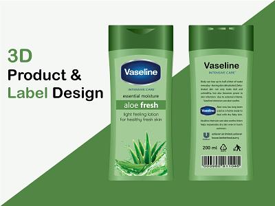 3D Product & Label Design ux art hi-quality graphic design label design product packaging design product design