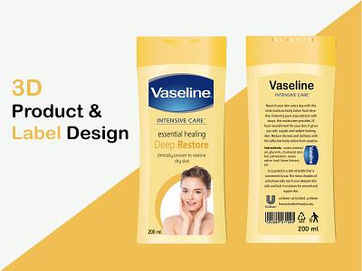 3D Product & Label Design label design product design ux design hi-quality graphic design art