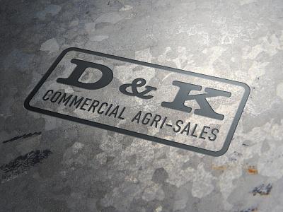 D&K Commercial Agri-Sales Logo logo branding