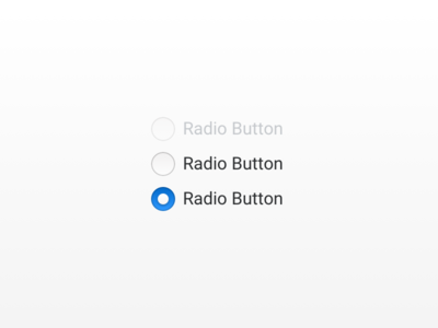 UI Radio Buttons