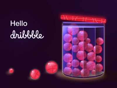 Hello dribbble! hello dribble dribbble vector classic ui illustration flat design