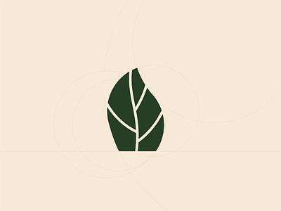 Véritable Garden Logo Redesign basil garden veritable leaf nature logo nature flat vector illustration logo design branding