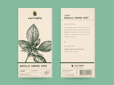 Véritable Lingot® Packaging Redesign hydroponics ecology vintage pack packaging icon typography ui agriculture nature branding package vector illustration logo branding