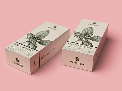 Véritable Lingot® Packaging clean véritable lingot leaf agriculture nature garden hydroponics branding package 3d vector illustration flat branding packaging design packaging