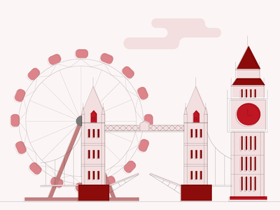 London (calling) - Retro Illustration story vector illustration london retro skyline city vector flat illustration