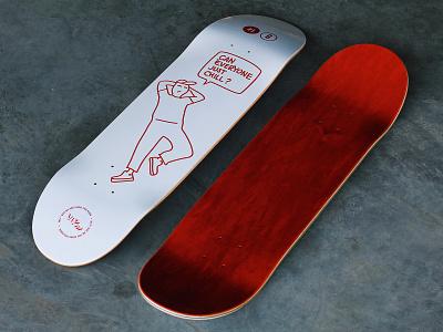 Vlom Skateboards stroke outline illustration skateboard graphics lineart animation chill wood deck skateboard sb skateboarding vlom lazy red doodle lviv 2d gif design