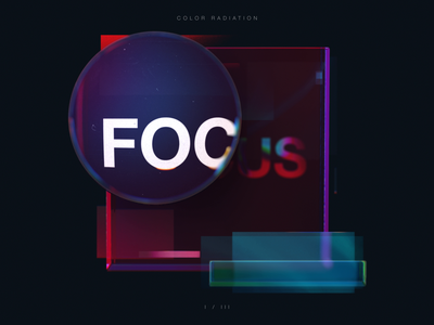 Focus blur typogaphy video focus transparency sliding radiation motion graphics motion magnifying glass loop gradient glass gif digital color aberration chromatic after effects animation