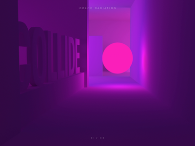 Collide physics light gradient react radiation museum sphere ball bounce color digital illustration motion graphics c4d 3d after effects motion gif design animation
