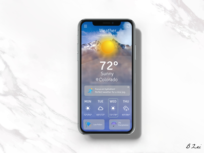 Daily UI Challenge - 37 - Weather app spring weather figma illustration app design dailyuichallenge design dailyui ux ui