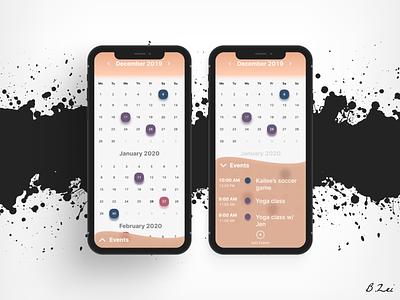 Daily UI Challenge - 38 - Calendar android ios app design app figma design figma dailyuichallenge design dailyui ux ui