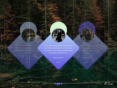 Daily UI Challenge - 39 - Testimonials flat minimal web branding figma dailyuichallenge design dailyui ux ui