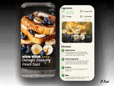 Daily UI Challenge - 40 - Recipe typography figma app app design dailyuichallenge design dailyui ux ui
