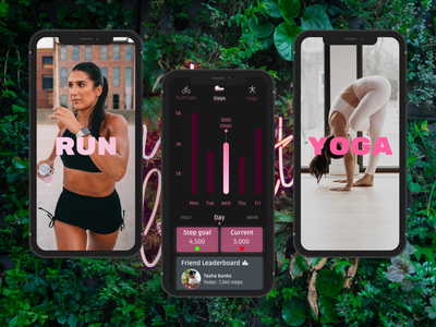 Daily UI Challenge - 41 - Workout Tracker minimal unsplash app typography figma app design dailyuichallenge design dailyui ux ui