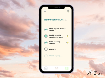 Daily UI Challenge - 42 - ToDo List icons8 unsplash figma app design dailyuichallenge design dailyui ux ui
