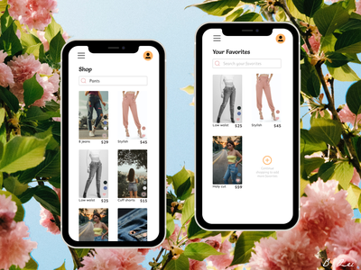 Daily UI Challenge - 44 - Favorites mobile pants fashion figma app app design dailyuichallenge design dailyui ux ui