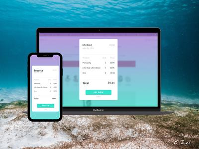 Daily UI Challenge - 46 - Invoice minimal web figma app app design dailyuichallenge design dailyui ux ui