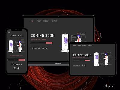 Daily UI Challenge - 48 - Coming Soon figma responsive design web design app design design dailyuichallenge dailyui ux ui