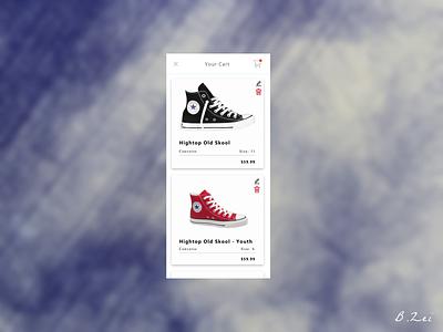Daily UI Challenge - 58 - Shopping Cart minimal app figma app design design dailyuichallenge dailyui ux ui