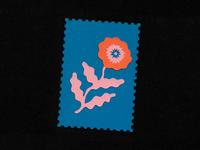 La flor stamps stamp flower flowers design illustration paper