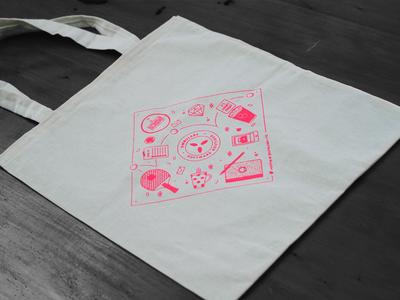 OmbuLabs Totebag branding illustration silk screen tote bag