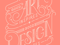 Good art inspires, good design motivates