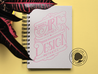 OmbuShop Notebook quotes design lettering letterpress notebook