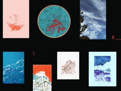 2018 clouds scenery mountain drawing embroidery layout photography illustration