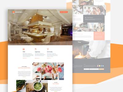 Departure Portland Web Concept restaurant website portland pix food restaurant landing