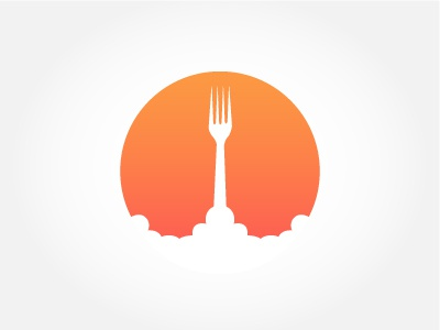 Departure Portland Logo Concept launch departure restaurant fork restaurant logo logo design logo